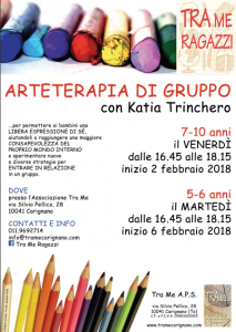 Tra Me Ragazzi propone il laboratorio di 'Arteterapia di Gruppo' con Katia Trinchero!