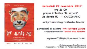 Tra Me e Piemonte Movie presentano il docufilm 'Un altro Me'.