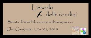 'L'esodo delle rondini' – Una serata di sensibilizzazione sull'immigrazione