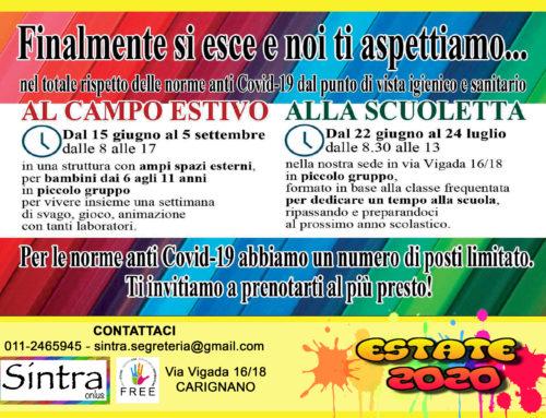 Partono le attività estive di Sintra!!