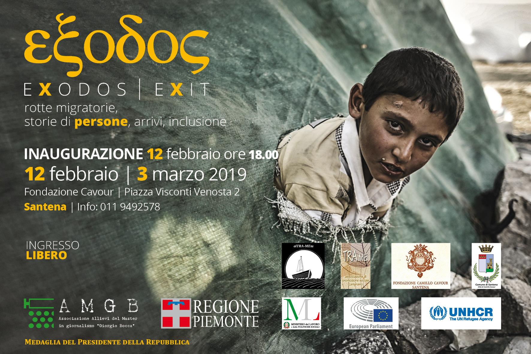 L'inaugurazione della Mostra 'Exodos' a Santena