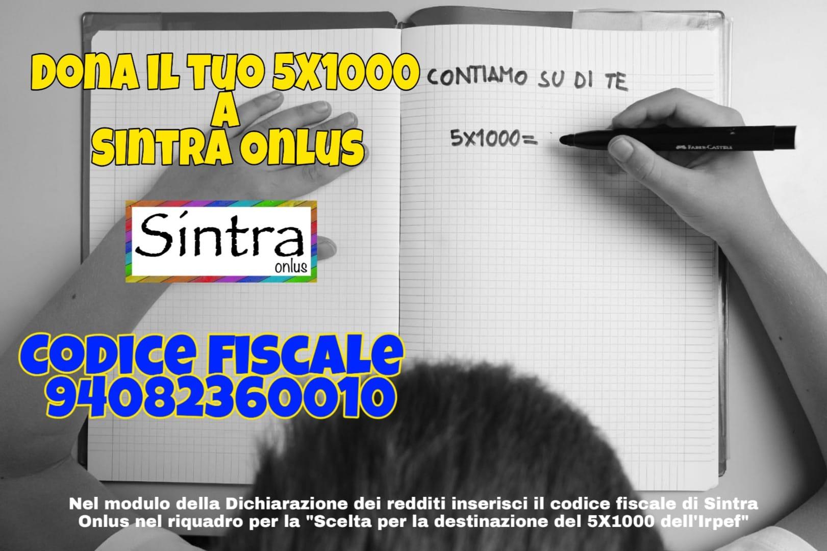 Dona il tuo 5X1000 a Sintra Onlus!